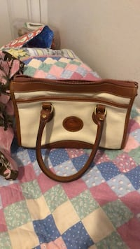 Brown and white leather tote bag Medford, 97501