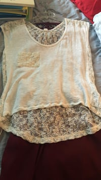women's white and brown floral blouse Mount Juliet, 37122
