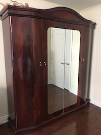Solid Cherry Wood custom Wardrobe, dresser and 2 night stands. Must go   Toronto, M9R 3A7