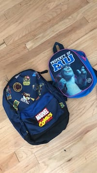 blue and black backpack with bag Lakewood, 98499