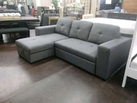 Grey fabric sectional sofa and storage chaise North Highlands, 95660