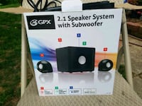 GPX 2.1 Speaker system with subwoofer Concord, 28025