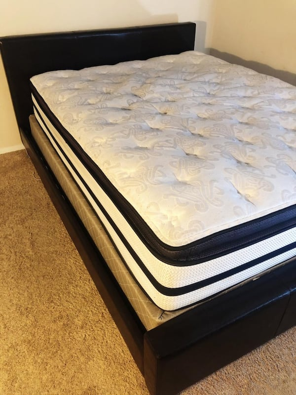 The bed and mattress all together  8a6f98d2-959d-4187-b248-cc90c794fbaa