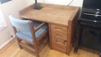 $35-Solid wood desk and Chair Rockville, 20850