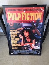 Matted Pulp Fiction poster Noblesville, 46060