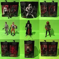 """STAR WARS: THE BLACK SERIES 6"""" Hasbro Action Figures lot toys Port Perry"""