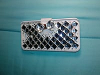 white diamond embedded iphone 5case Fresno