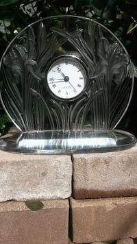"$450 ""LALIQUE""  TODAY ONLY CRYSTAL FRENCH CLOCK... Weehawken, 07086"