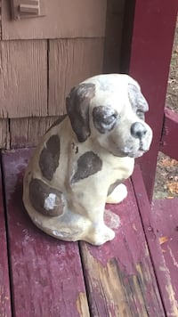 white and black dog statue Patchogue, 11772