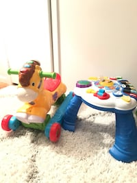 Kids Toys - Rocking Horse and Standing Table