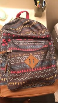 black, red, and white tribal print backpack Woodbridge, 22193