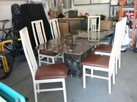 Italian Marble Table & Chairs