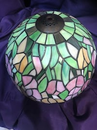 Beautiful Stained Lead Tiffany Style Glass  Lamp Shade 12""