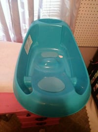 baby's teal plastic bather