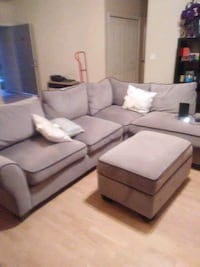 Nice Beige Sectional With Ottoman  Fresno, 93728