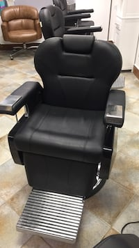 Black leather barber chairs Vaughan, L6A 2W2