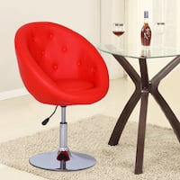 Brand new red leather vanity chair dining lounge stool  La Puente