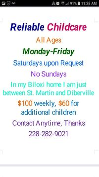 Offering Babysitting Service D'Iberville