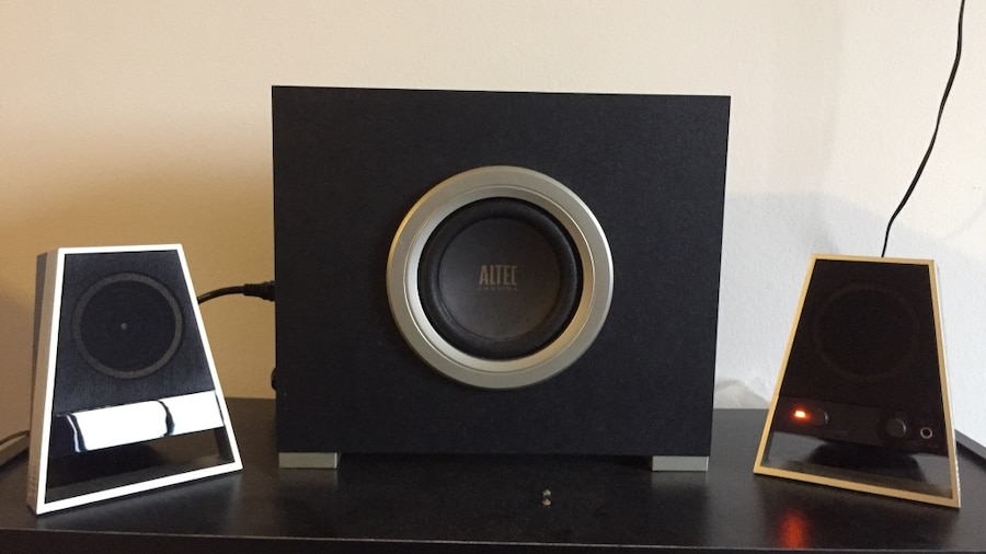 3-piece black Altec Lansing speaker set