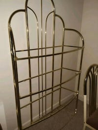 Brass & Glass shelving unit Ellicott City, 21043