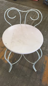 """Unique metal chair 16"""" to seat East Lansdowne, 19050"""