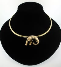 Gold Omega Necklace W/Cat Pendant (35496) Queen Creek