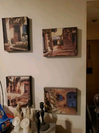 4 Framed Pictures from Italy