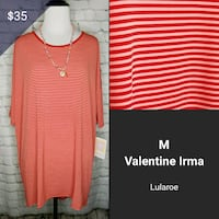 size M red and white Valentin Irma stripe scoop-neck shirt collage Mesa, 85212