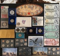 1916 - 1999 Lot of Assorted Canadian Coin Sets, Tokens & Banknotes Calgary, T2R 0S8