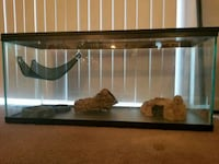 rectangular brown wooden framed glass pet tank Frederick