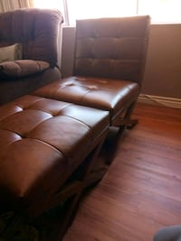 Leather Chair with Ottoman Port Hueneme, 93041