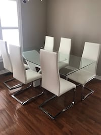 white and black wooden dining set Pickering, L1V 7C8
