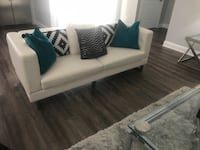 white fabric 2-seat sofa Washington