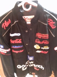Leather Dale Earnhardt Racing Embroidered Jacket Fort Montgomery, 10928