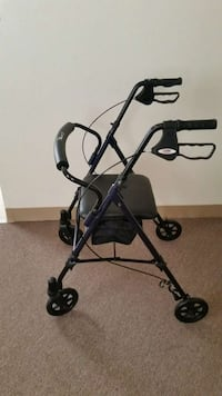 purple and gray rollator