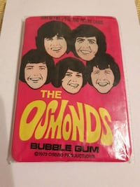 THE OSMONDS. UNOPENED WAX PACK OF CARDS Toronto, M1B 1J5