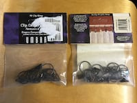 2 Packages of UMBRA Clip Drapery Rings Toronto, ON, Canada