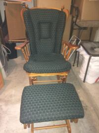 Rocking chair with rocking foot stool.  Bear, 19701