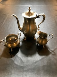 Vintage Poole Pewter Footed Coffee/Teapot Set