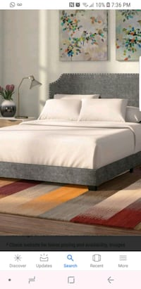 NEW KYARA QUEEN GREY BEDFRAME Mississauga, L4T 2Z2