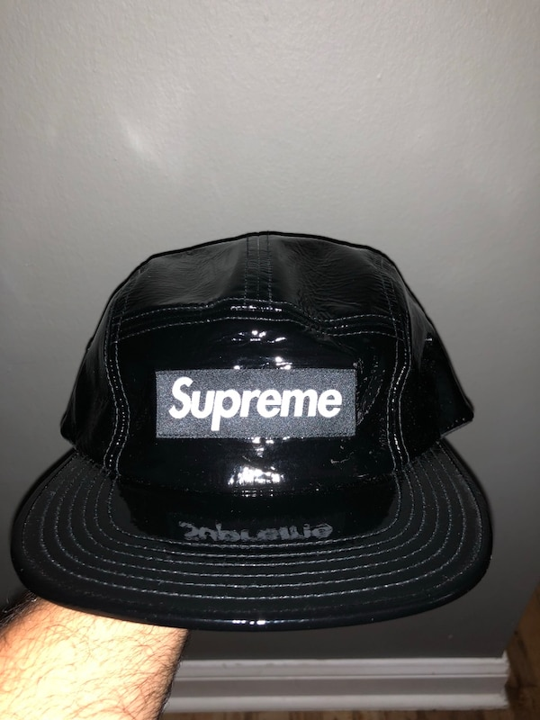 37f3c9291123b Used Supreme 5 Panel Cap Rubber Patent Leather Never Used New for sale in New  York - letgo