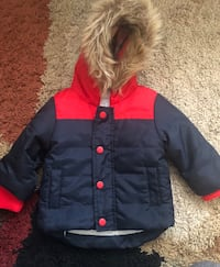 Black and red baby's winter jacket (6-9 months) Ottawa, K2E 6P1