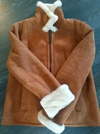 brown and white zip-up jacket Toronto, M8Y 4E1