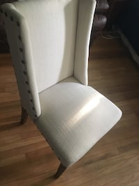 white and gray padded chair Montgomery, 12549