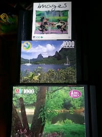 3 Puzzles, 1.000, 1.000 and 500 pieces.