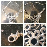 silver and black necklace collage Toronto, M9W 2J9