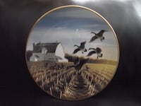 """Bradex Collectors Plate """"Canada Geese in the Autumn Field"""" 1988"""