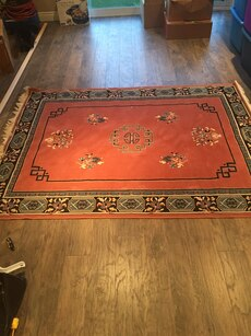 Rug 7.5 x 5.5 made in Belgium- good condition