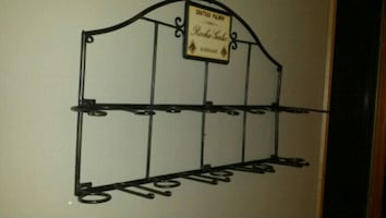 Chateau Palmer 1884 Roche Gales Bordeaux wine bottle/glass wall rack