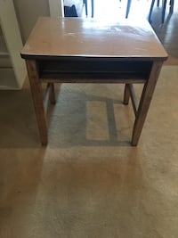 rectangular brown wooden side table 19 km